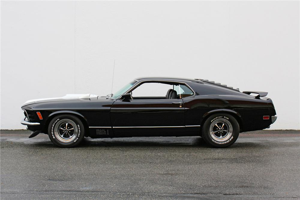 1970 FORD MUSTANG MACH 1 FASTBACK - Side Profile - 138464