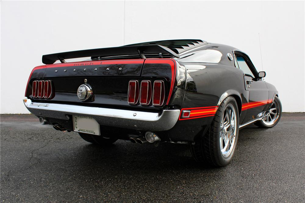 1969 FORD MUSTANG MACH 1 FASTBACK - Rear 3/4 - 138465