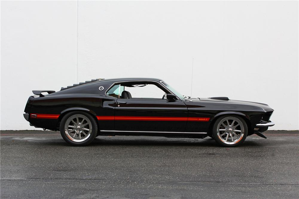 1969 FORD MUSTANG MACH 1 FASTBACK - Side Profile - 138465