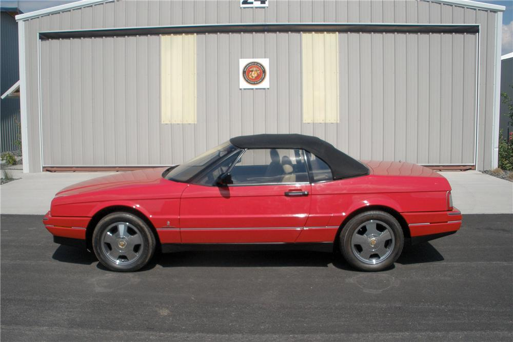 1991 CADILLAC ALLANTE CONVERTIBLE - Side Profile - 138468