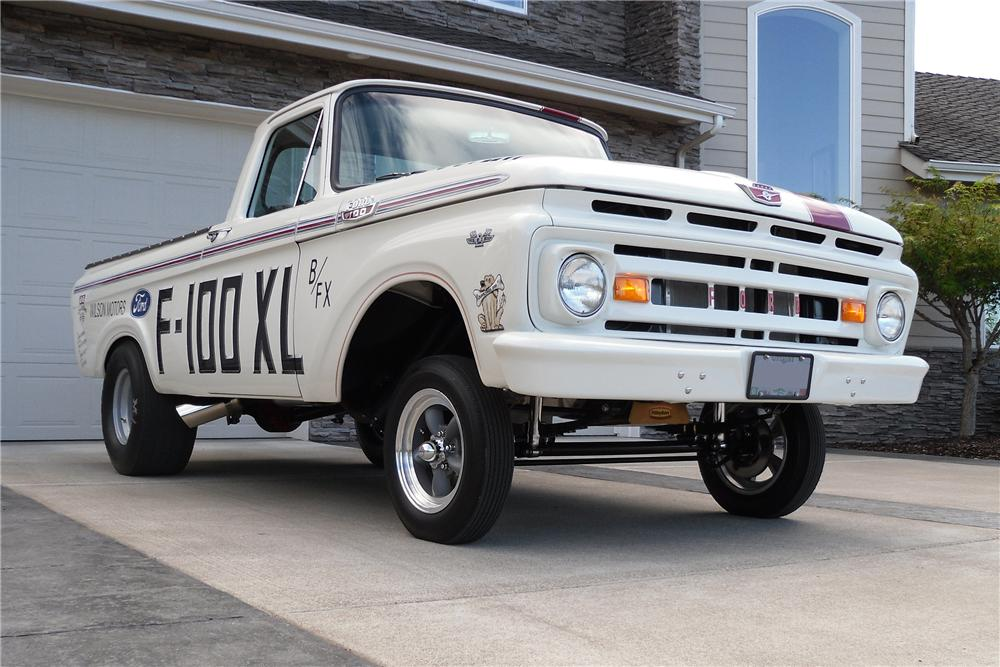 1963 FORD F-100 CUSTOM PICKUP - Front 3/4 - 138481