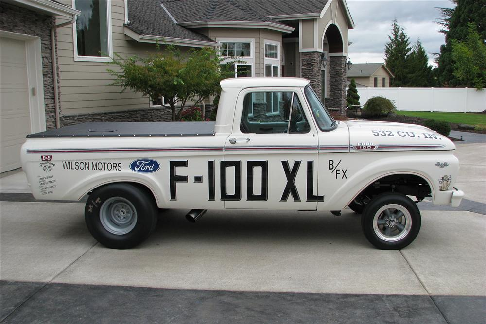 1963 FORD F-100 CUSTOM PICKUP - Side Profile - 138481