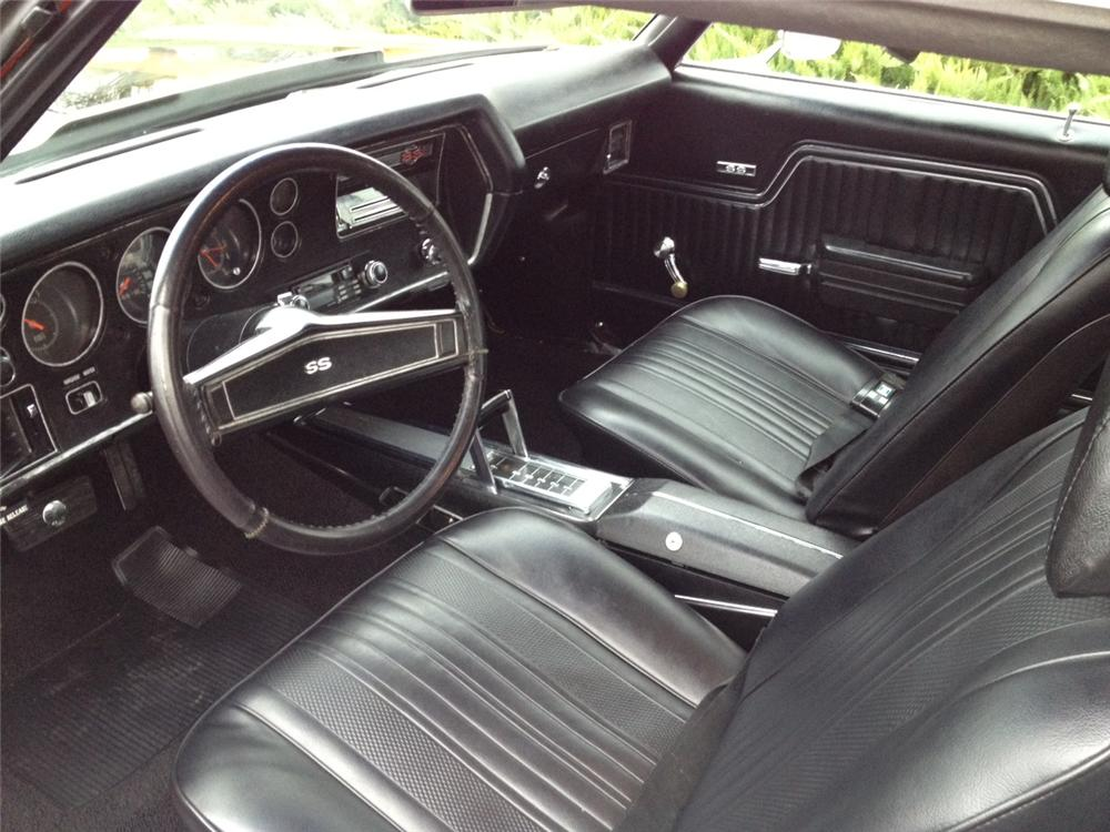 1970 CHEVROLET CHEVELLE CUSTOM 2 DOOR COUPE - Interior - 138491