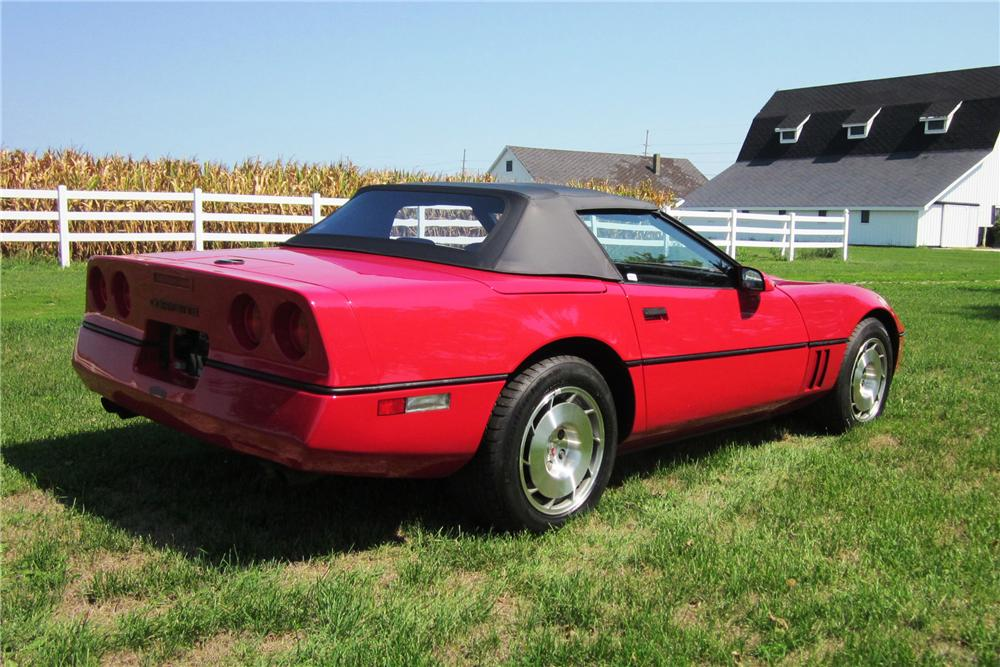 1986 CHEVROLET CORVETTE CONVERTIBLE - Rear 3/4 - 138503