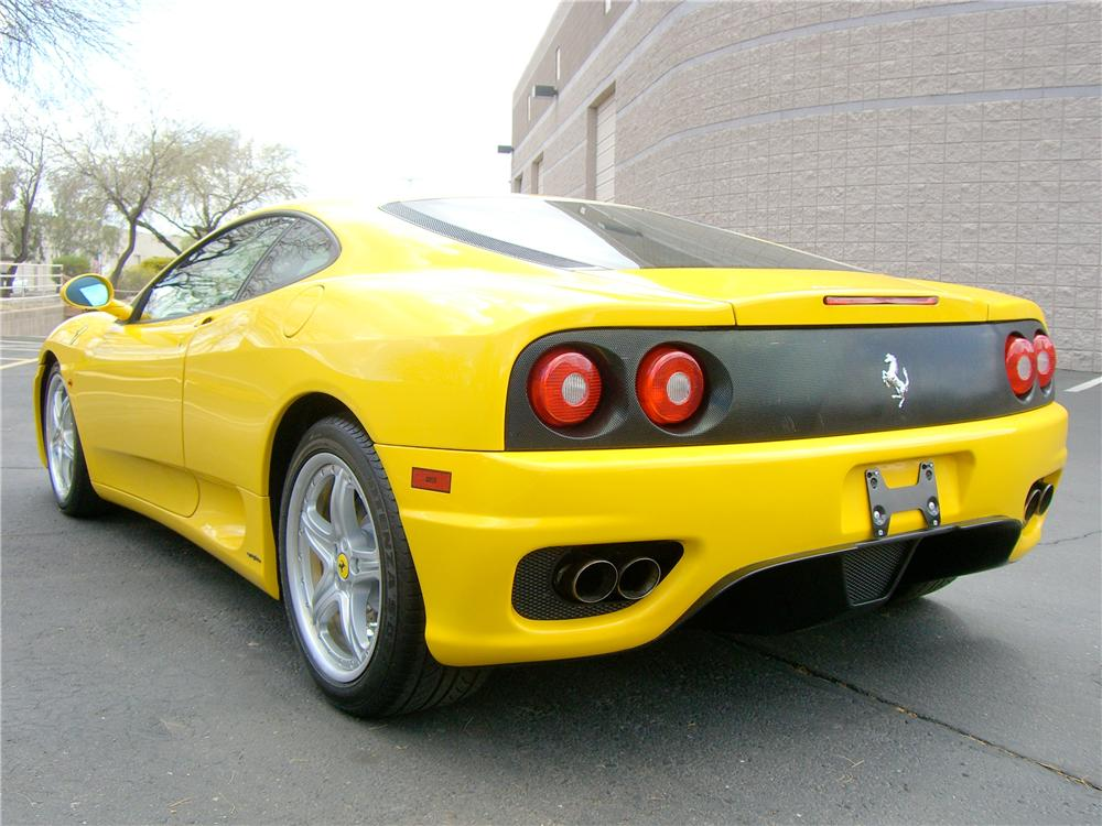 2003 FERRARI 360 MODENA 2 DOOR COUPE - Rear 3/4 - 138505