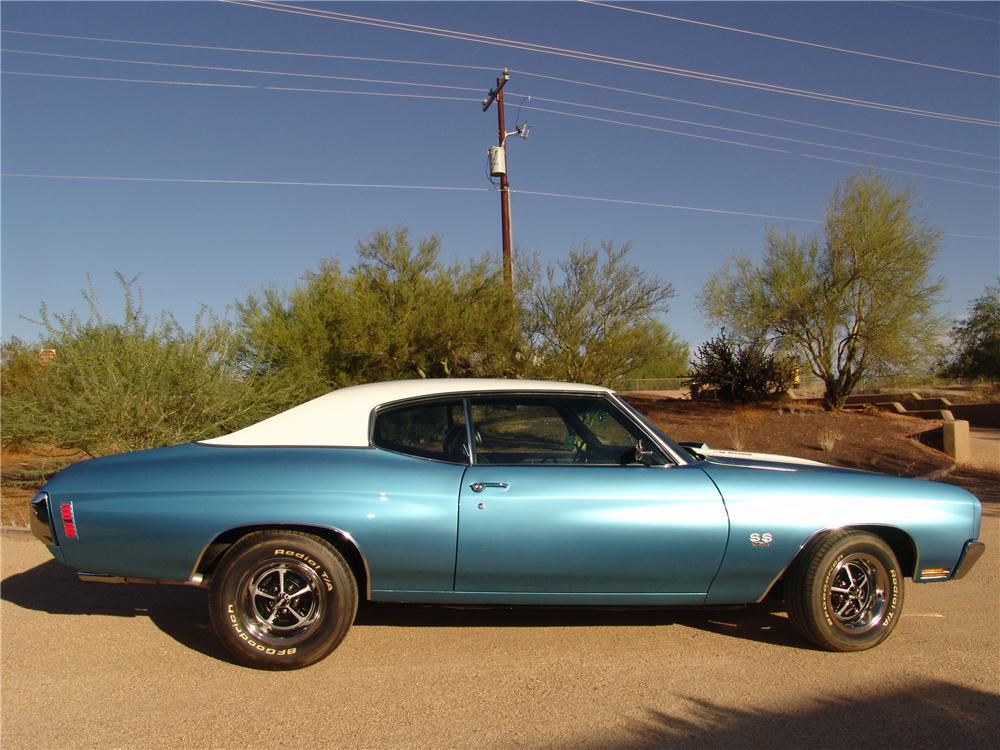 1970 CHEVROLET CHEVELLE SS LS5 2 DOOR HARDTOP - Side Profile - 138517