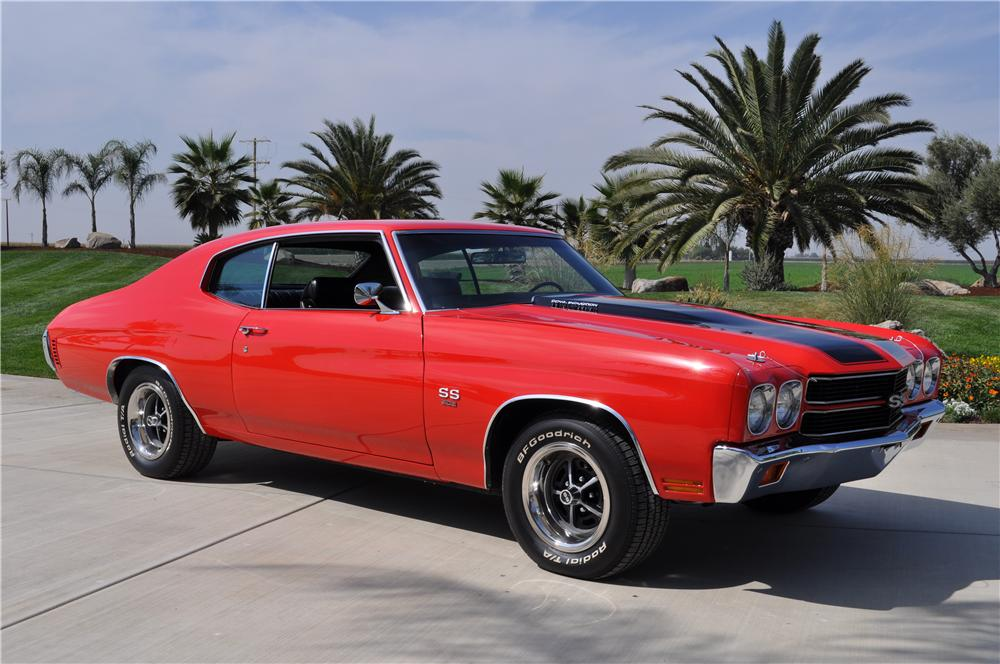 1970 CHEVROLET CHEVELLE CUSTOM 2 DOOR COUPE - Front 3/4 - 138520