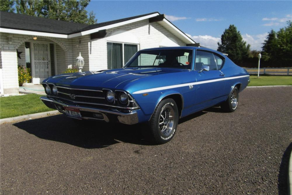 1969 CHEVROLET CHEVELLE SS 396 2  DOOR COUPE - Front 3/4 - 138584