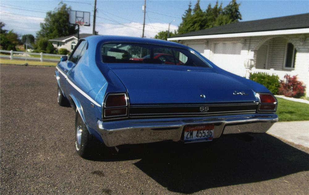 1969 CHEVROLET CHEVELLE SS 396 2  DOOR COUPE - Rear 3/4 - 138584