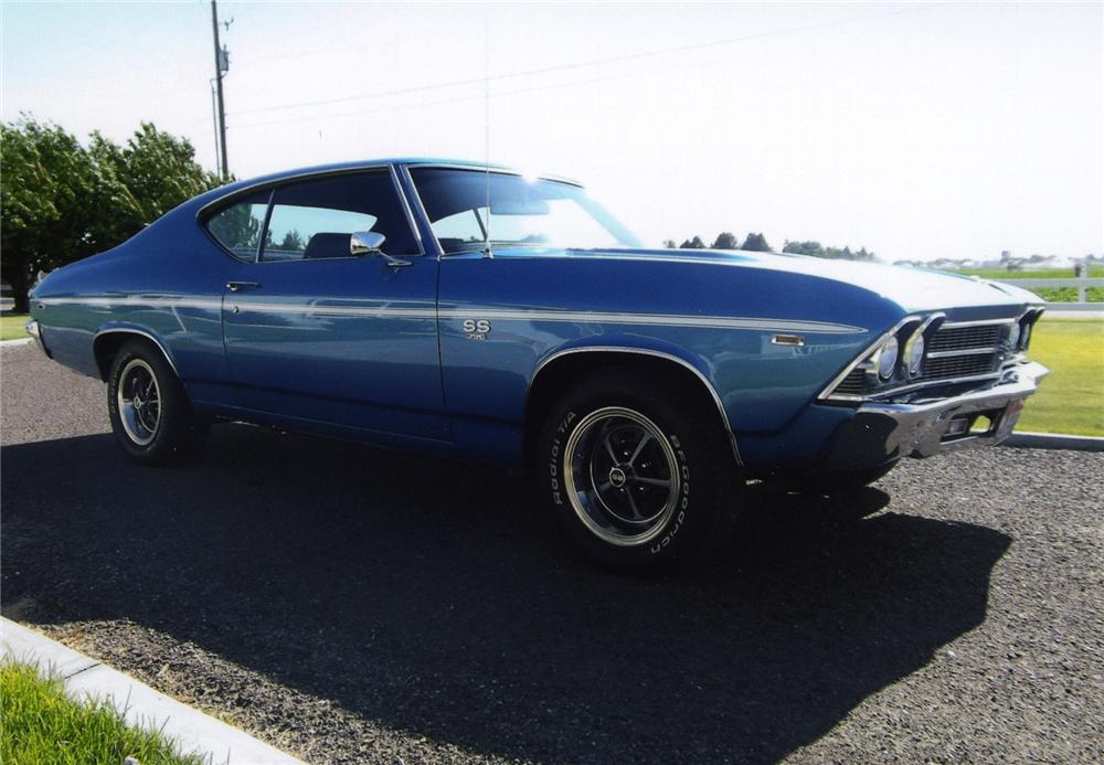 1969 CHEVROLET CHEVELLE SS 396 2  DOOR COUPE - Side Profile - 138584