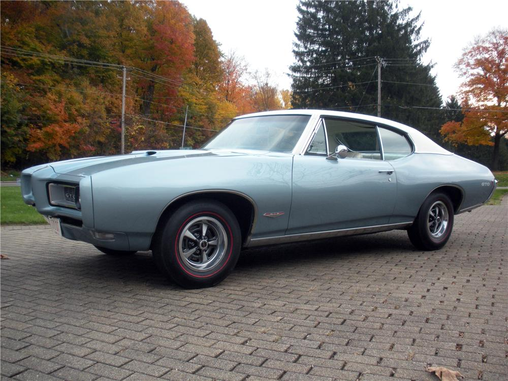 1968 PONTIAC GTO 2 DOOR COUPE - Front 3/4 - 138717
