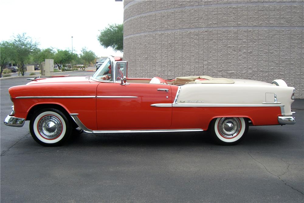 1955 CHEVROLET BEL AIR CONVERTIBLE - Side Profile - 138759