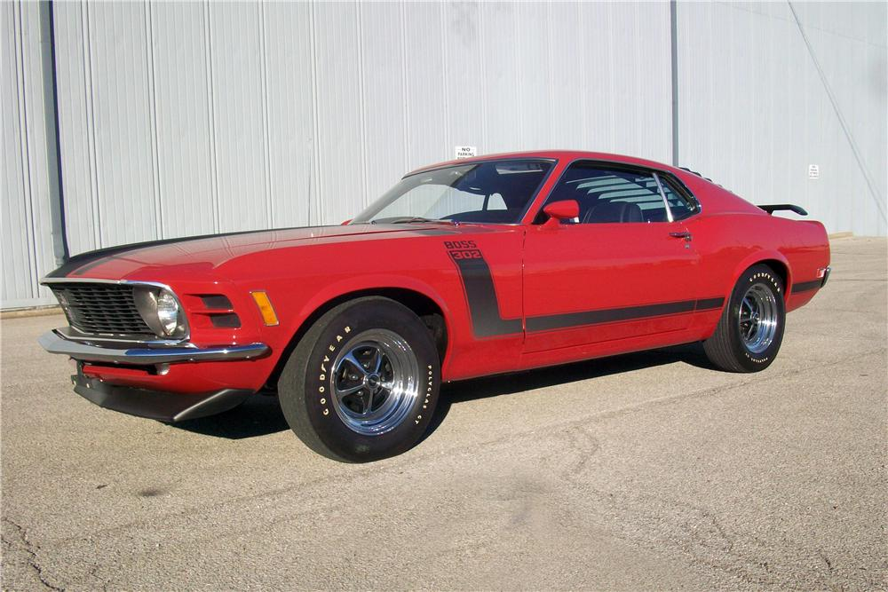 1970 FORD MUSTANG BOSS 302 FASTBACK - Front 3/4 - 138765