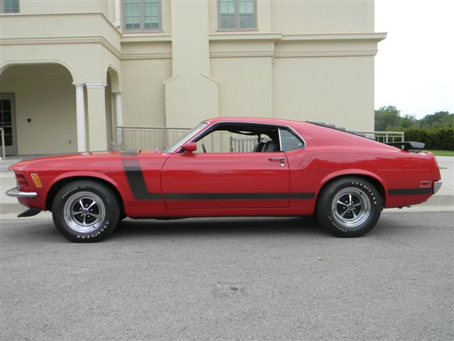1970 FORD MUSTANG BOSS 302 FASTBACK - Side Profile - 138765