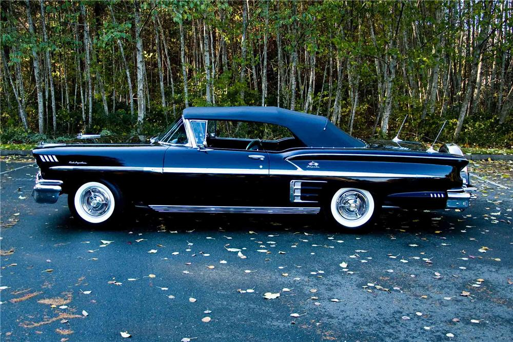 1958 CHEVROLET IMPALA CONVERTIBLE - Side Profile - 138773