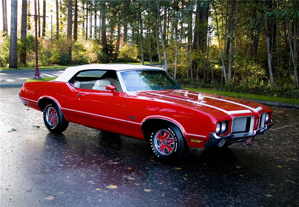 1972 OLDSMOBILE 442 CONVERTIBLE - Front 3/4 - 138776
