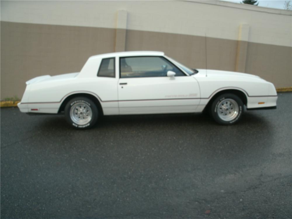 1985 CHEVROLET MONTE CARLO SS 2 DOOR HARDTOP - Side Profile - 138822