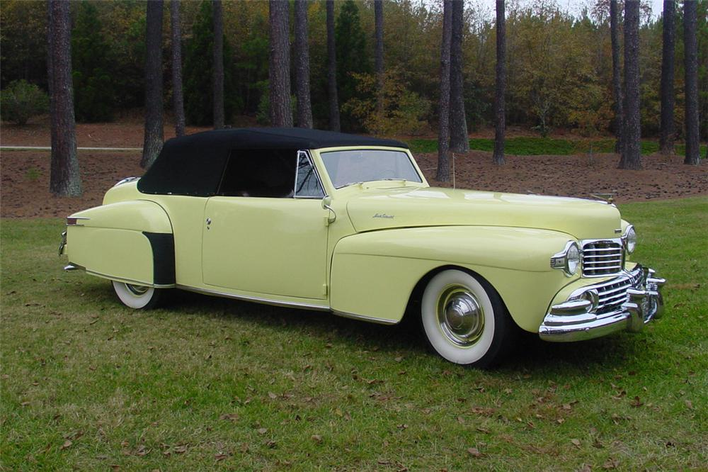 1946 LINCOLN CONTINENTAL CONVERTIBLE - Front 3/4 - 138894