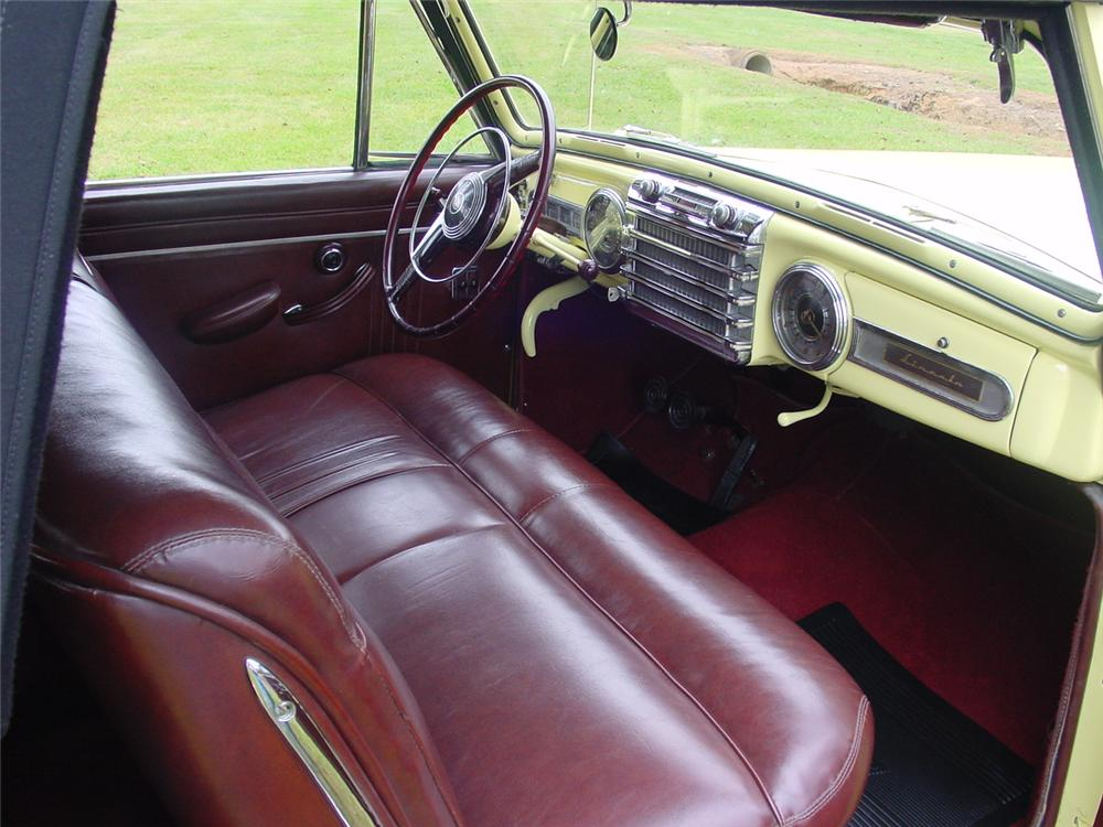 1946 LINCOLN CONTINENTAL CONVERTIBLE - Interior - 138894