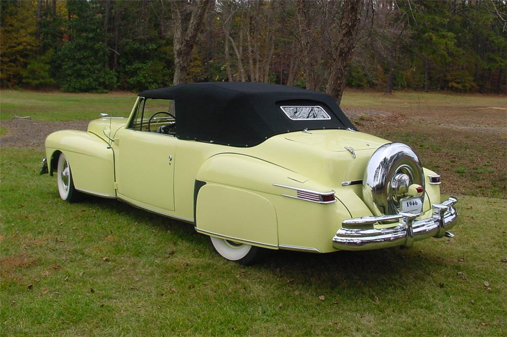 1946 LINCOLN CONTINENTAL CONVERTIBLE - Rear 3/4 - 138894