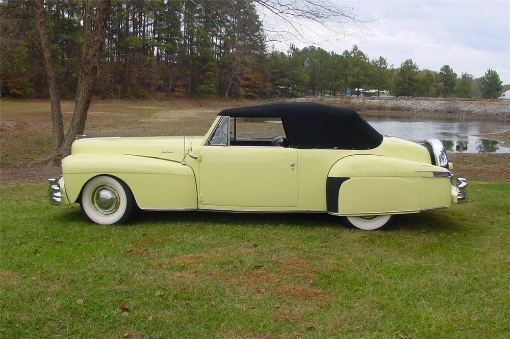1946 LINCOLN CONTINENTAL CONVERTIBLE - Side Profile - 138894
