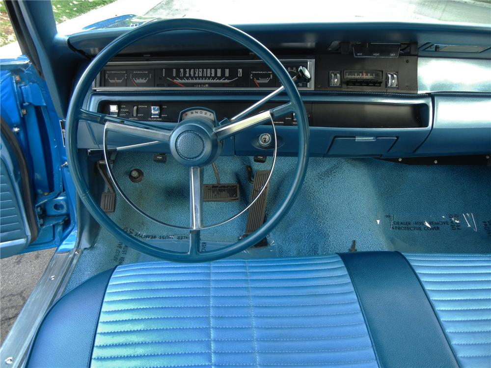 1968 PLYMOUTH HEMI ROAD RUNNER 2 DOOR HARDTOP - Interior - 138932
