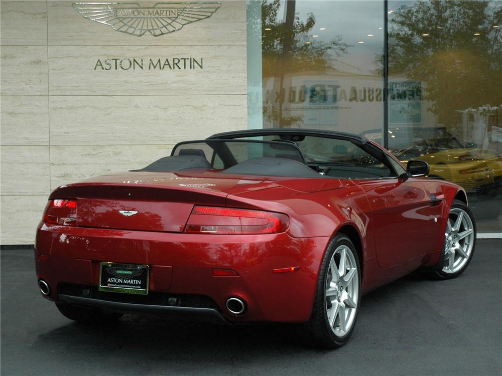 2008 ASTON MARTIN VANTAGE CONVERTIBLE - Rear 3/4 - 138933