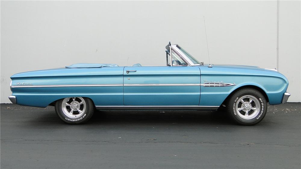 1963 FORD FALCON FUTURA CONVERTIBLE - Side Profile - 138965