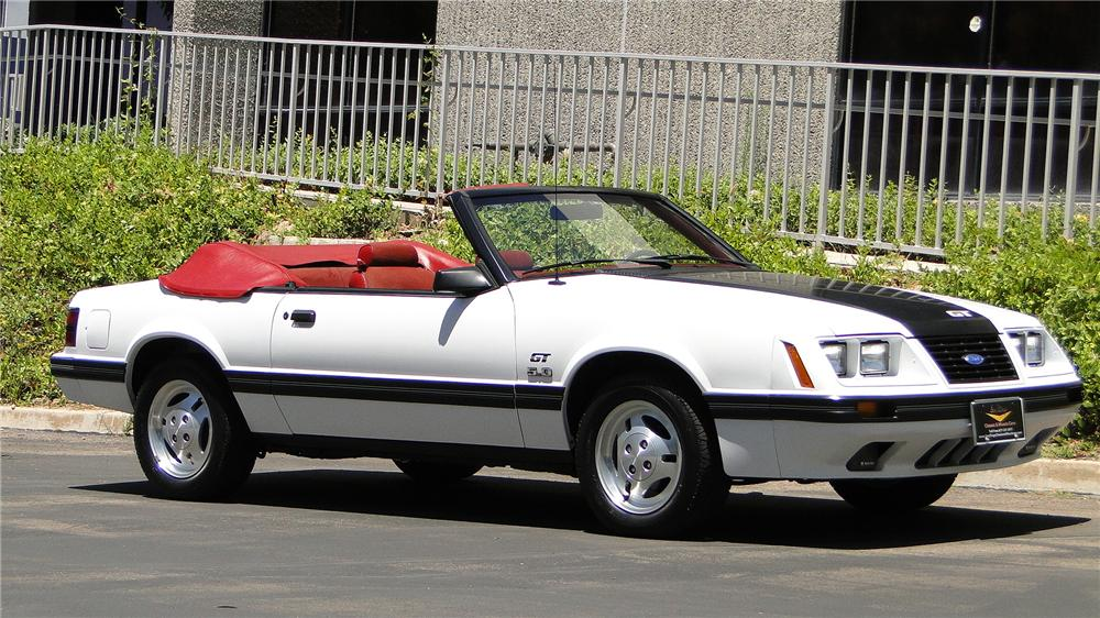 1984 FORD MUSTANG GT CONVERTIBLE - Front 3/4 - 138966