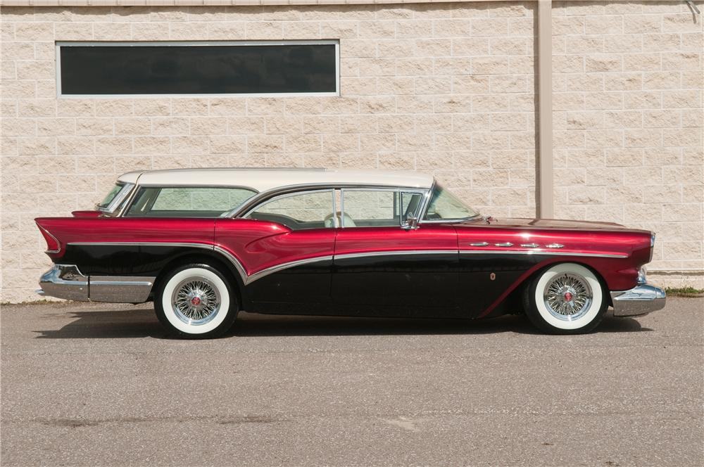 1957 BUICK CENTURY CUSTOM WAGON - Side Profile - 138984