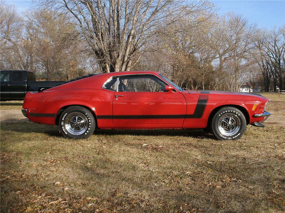 1970 FORD MUSTANG BOSS 302 FASTBACK - Side Profile - 138997