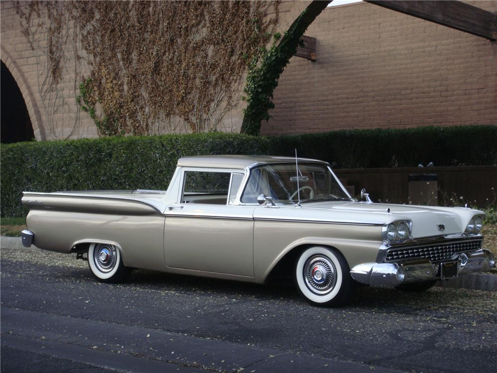 1959 FORD RANCHERO CUSTOM PICKUP - Front 3/4 - 139036
