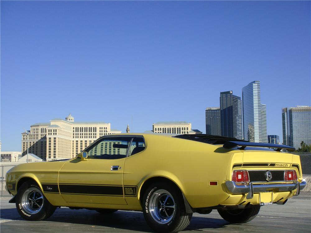 1973 FORD MUSTANG MACH 1 FASTBACK - Rear 3/4 - 139038