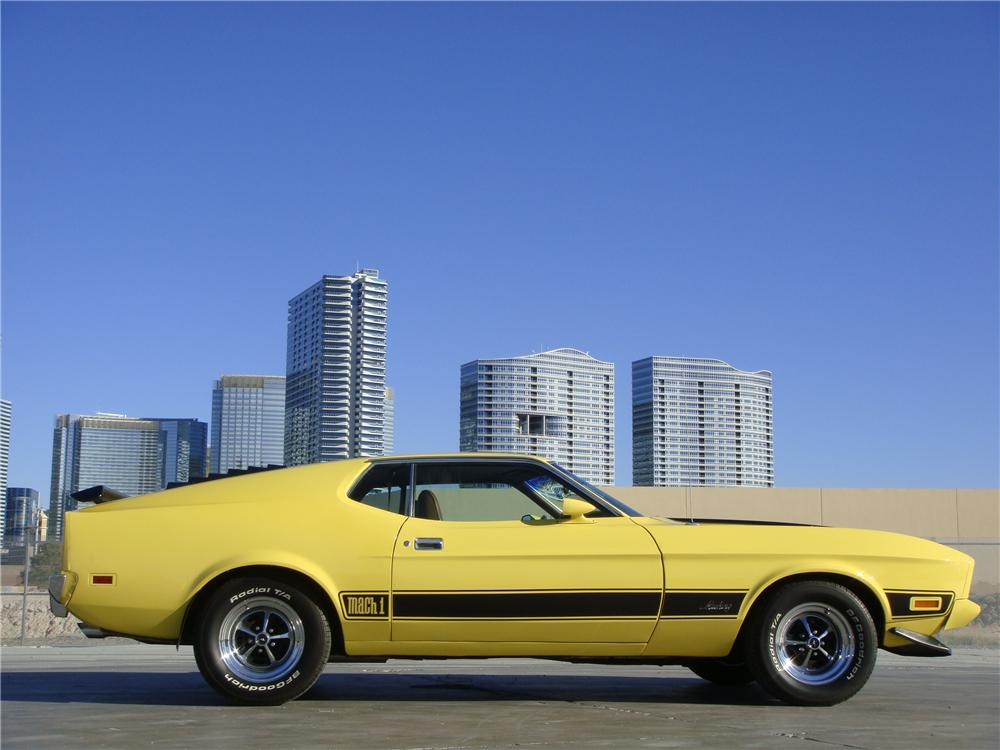 1973 FORD MUSTANG MACH 1 FASTBACK - Side Profile - 139038