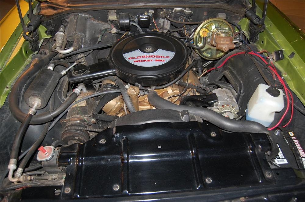 1971 OLDSMOBILE CUTLASS SUPREME CUSTOM CONVERTIBLE - Engine - 139045