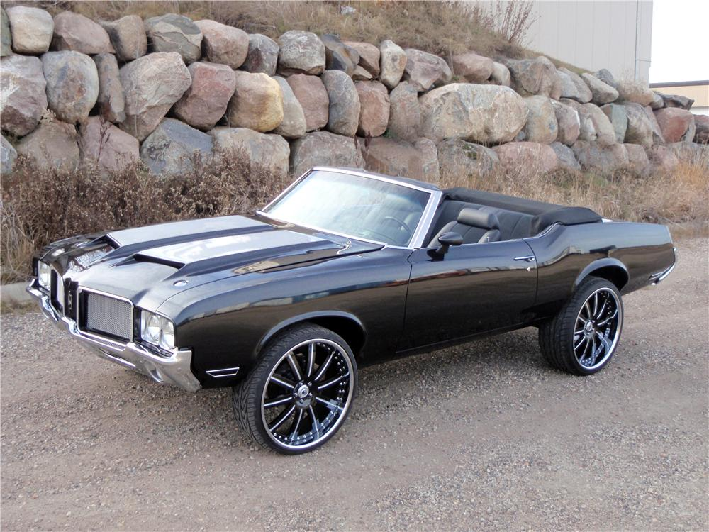 1971 OLDSMOBILE CUTLASS CUSTOM CONVERTIBLE - Front 3/4 - 139046
