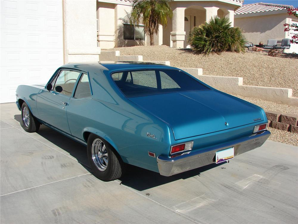 1968 CHEVROLET NOVA 2 DOOR - Rear 3/4 - 139052