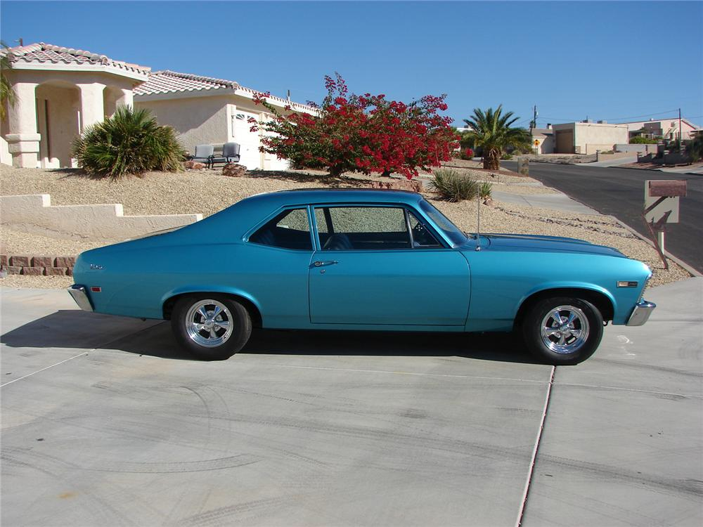 1968 CHEVROLET NOVA 2 DOOR - Side Profile - 139052