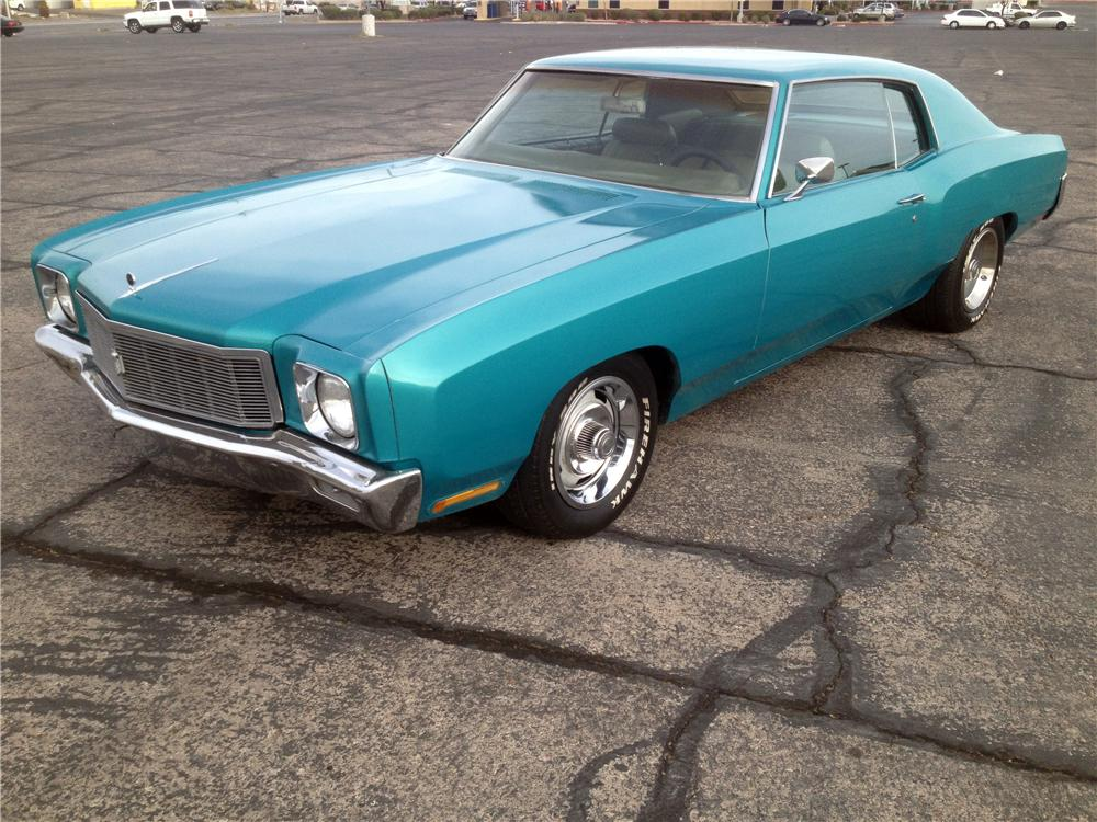 1971 CHEVROLET MONTE CARLO 2 DOOR COUPE - Front 3/4 - 139061