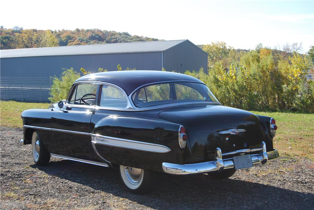 1953 CHEVROLET BEL AIR 2 DOOR SEDAN - Rear 3/4 - 139063