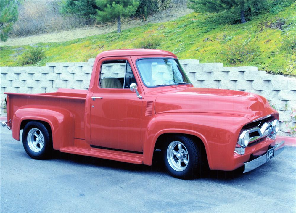 1955 FORD F-100 CUSTOM PICKUP - Front 3/4 - 139075