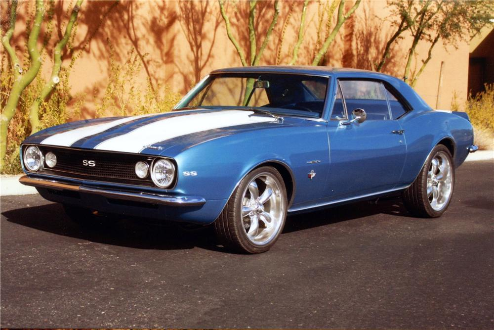 1967 CHEVROLET CAMARO SS CUSTOM COUPE - Front 3/4 - 139086