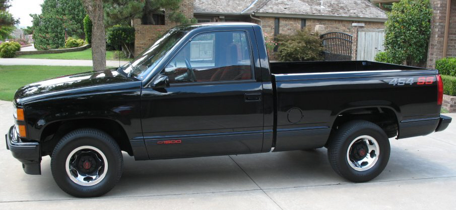 1990 CHEVROLET 454SS PICKUP - Side Profile - 139090