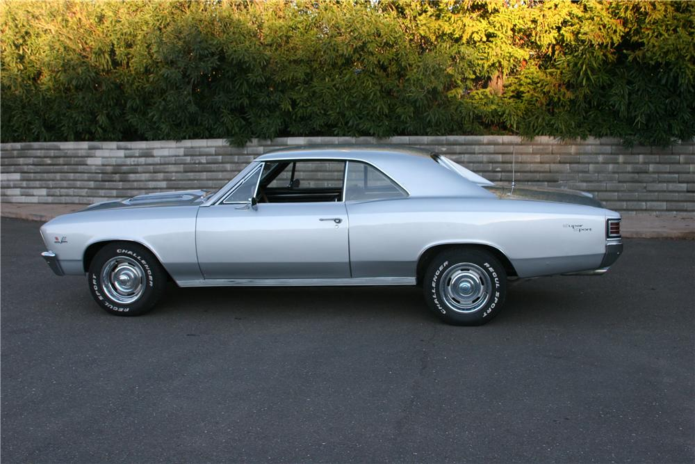1967 CHEVROLET CHEVELLE SS 396 2 DOOR COUPE - Side Profile - 139107