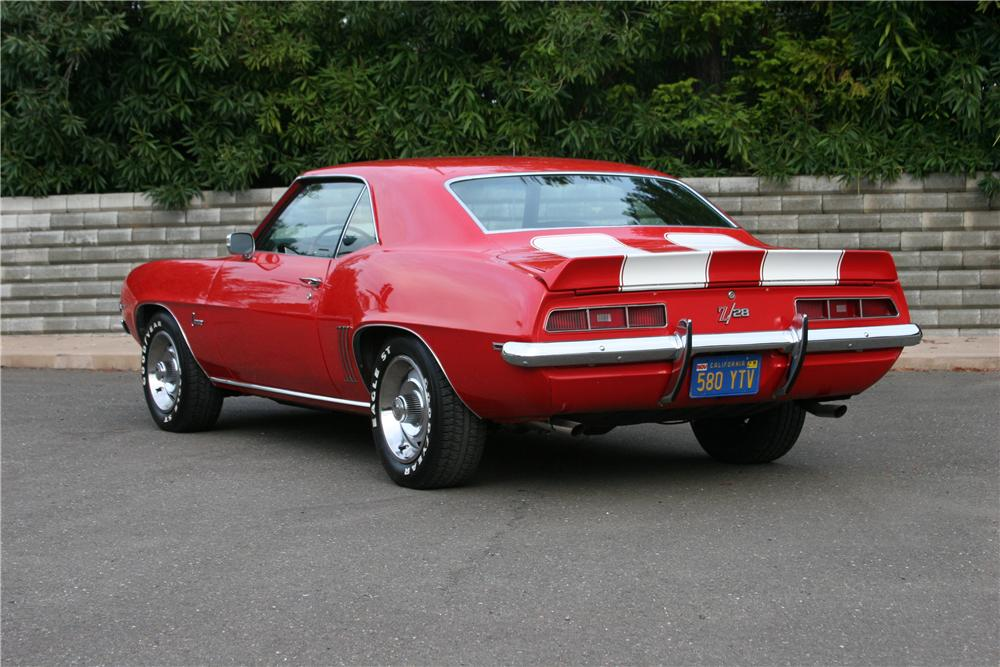1969 CHEVROLET CAMARO Z/28 2 DOOR COUPE - Rear 3/4 - 139108
