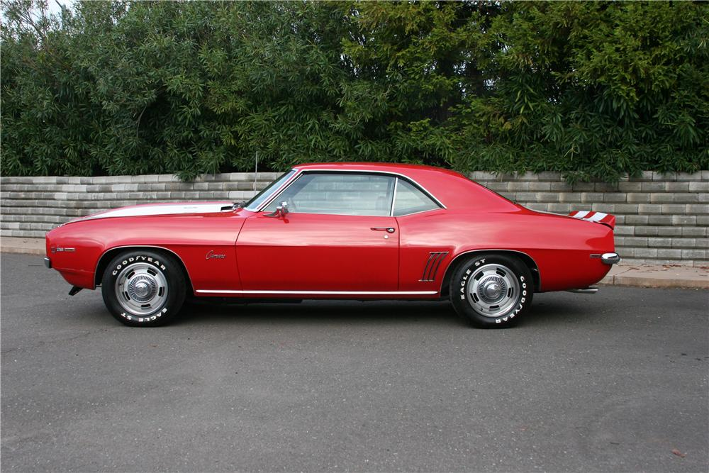 1969 CHEVROLET CAMARO Z/28 2 DOOR COUPE - Side Profile - 139108