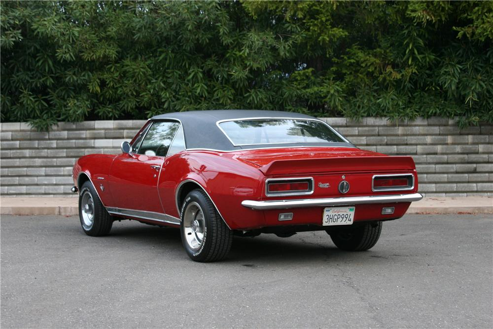 1967 CHEVROLET CAMARO RS 2 DOOR COUPE - Rear 3/4 - 139109