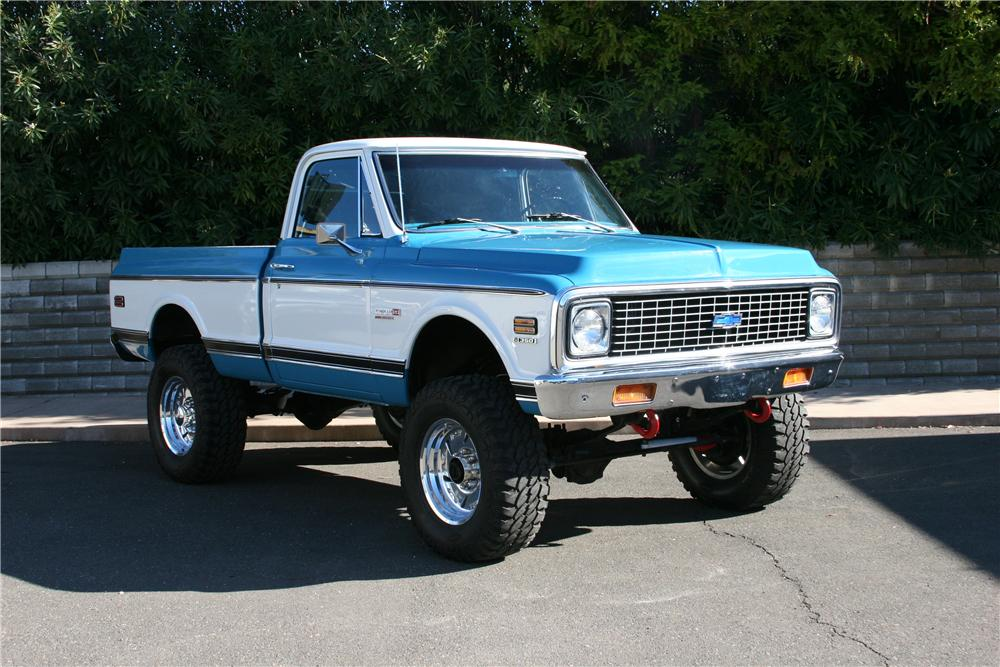 1972 CHEVROLET K-20 CUSTOM PICKUP - Front 3/4 - 139110