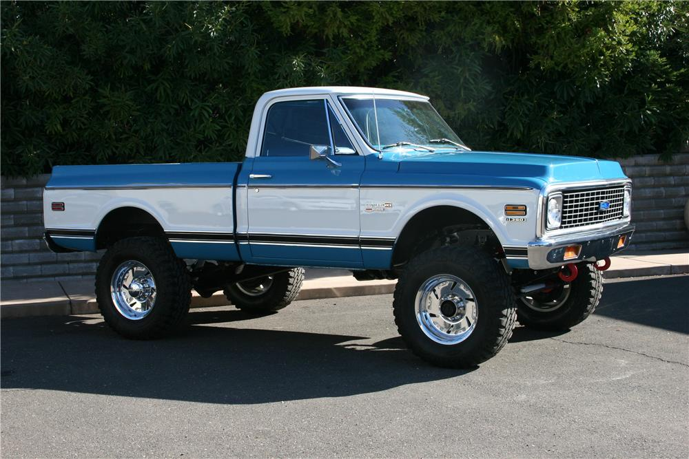 1972 CHEVROLET K-20 CUSTOM PICKUP - Side Profile - 139110