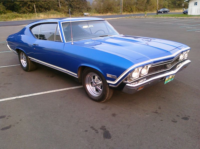 1968 CHEVROLET CHEVELLE CUSTOM 2 DOOR COUPE - Front 3/4 - 139111